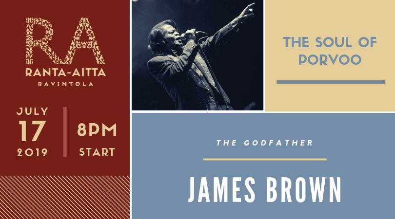 James Brown, the Godfather of Soul, comes to Porvoo