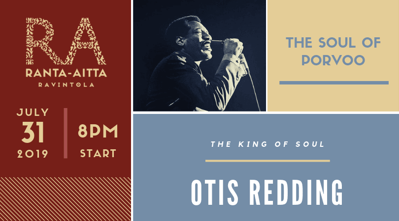 Otis Redding The King Of Soul Is Coming To Porvoo